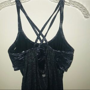 Athleta top with built in bra and ties at waist